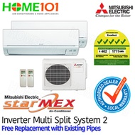 Mitsubishi StarMex Multi-Split AirCon Available in 5 Ticks with FREE Replacement - [SYSTEM. 2]