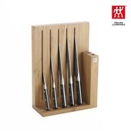 【ZWILLING 德國雙人】Pro 六件式刀座組(竹製刀座)