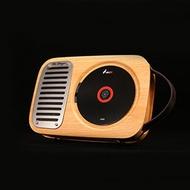 5Cgo【含稅】壁挂式複古迷你便攜戶外發燒純CD機播放器轉盤隨身聽家用學生英語留聲音箱低音炮574542486454