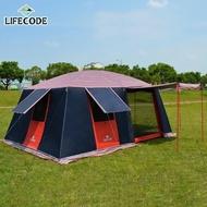 【LIFECODE】夜行星2.0版《二房一廳》超大4-8人帳篷(夜晚會反光)