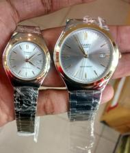 Win Watch shop นาฬิกาคู่รัก Casio รุ่น MTP-1170G-7A ,LTP-1170G-7A นาฬิกาคู่ ชายหญิง สายสแตนเลส สีเงิน ขอบหน้าปัดทอง สุดหรู - มั่นใจ ของแท้ 100% รับประกันสินค้า 1 ปีเต็ม