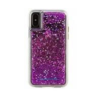 「65折優惠,現貨全新品」美國 Case-Mate iPhone X Waterfall 亮粉瀑布防摔手機保護殼 - 紫紅