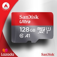 Sandisk Ultra microSDXC Card Class10 A1 ความเร็ว 100MB/s ความจุ 128GB U1 (SDSQUAR_128G_GN6MA) เมมโมรี่ การ์ด แซนดิส โทรศัพท์ มือถือ สมาร์ทโฟน แท็บเล็ต กล้องแอคชั่น Action Camera Mobile Android คอมพิวเตอร์ PC Mac Memory ประกัน 10 ปี โดย Synnex (แดงเทา)