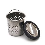 「CP好物」通用型水槽提籠三件組(小) 水槽濾水杯濾網防蟑網不鏽鋼小提籠洗碗槽用橡膠塞子