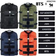 BTS X AGATHA旅行版帆布背包背包書包背包中性★Qxpress