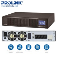 PROLiNK PRO903WRS 3KVA / 2400W Rackmount Pure Sine-Wave Online Smart UPS Uninterruptible Power Supply with AVR suitable for Data Center Medical Equipment Office Workplace ATM and Kiosk machine