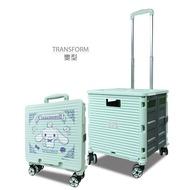 Sanrio - Cinnamoroll 摺疊式4孖輪拉桿購物車 (CN1911)