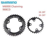 Shimano DEORE M6000 Chainring 96bcd 38-28t 36-26t For DEORE SLX M7000 XT M8000 Crankset 22 Speed