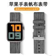 ใช้ Apple นาฬิกาผ้าใบ Applewatch6 1-2-3-4 - SE - 5 Creative ถักด้วยสายรัดข้อมือน้ำผ่านแฟชั่นและเปลี่ยนสีสัน