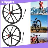 Superfeel  Solid 20\'\' Folding Bike Wheelset 1.5~2.125 Disc Brake Wheel 6 Hole Hub Front
