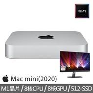【+DELL 24型 IPS螢幕】Mac mini M1晶片 8核心CPU 與 8核心GPU 512G SSD(MGNT3TA/A)