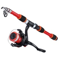 Sougayilang New Cheap Combo 1.8m Super Strong Spinning Fishing Rod with AK200 Spinning Fishing Reel with line Fishing Set
