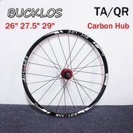 "BUCKLOS Bicycle Wheelset Carbon MTB Tyre Rim Disc Brake Wheel set 26"" 27.5"" 29""Bike wheelset TA QR"