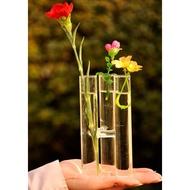 【Mylovego】花瓶 玻璃花瓶 水培 種花 栽種 DIY 試管玻璃 試管 玻璃 玻璃瓶 花瓶 花插 裝飾 GA03