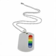彩虹吊牌項鍊 鈦鋼磁石 編織手鍊 PU 磁石扣 同性 LES 手鍊 手環 沂軒精品 F0006-5