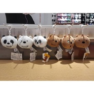 MINISO x WE BARE BEARS! We bare bears bag hangers. Cheap Miniso charm bag. Ready surabaya