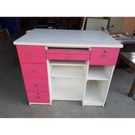 多抽屜方形櫃台桌A01094快樂福二手倉庫