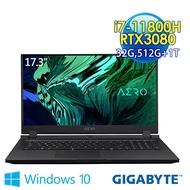 GIGABYTE技嘉 AERO 17 HDR YD-73TW548GP 17.3吋 創作者筆電(i7-11800H/32G/512G+1TB SSD/RTX3080-8G/Win10Pro)