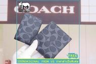 กระเป๋าสตางค์ Coach แท้ F74993 กระเป๋าตังผู้ชาย / Wallets / กระเป๋าเงิน / กระเป๋าสตางค์ใบสั้น / กระเป๋าสตางค์หนัง