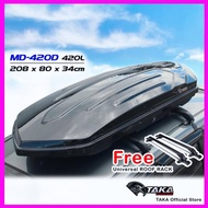Taka MD-420D Glossy Roofbox With Roof Rack (Dimensions: 208 x 84 x 34cm)