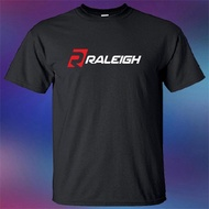 Short sleeve T shirt Raleigh Mountain Bicycles Bike Company Logo Men's Black T-Shirt