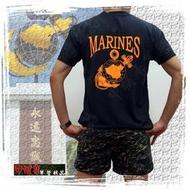 《乙補庫》中華民國海軍陸戰隊MARINES黑色透氣排汗T恤~超涼爽透氣涼衫