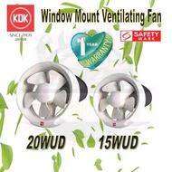 KDK VENTILATION FAN / WINDOW MOUNTED FAN / 15WUD / 20WUD