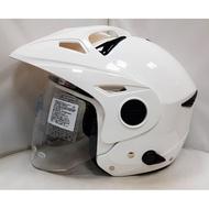 頭等大事安全帽 瑞獅 ZEUS ZS-612C 612C 素色 白色 雙鏡 全可拆內襯 插扣送防摔觸屏手套+免運