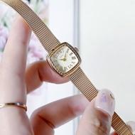 Japanese niche brand agete ladies watch retro twist watch Roman numerals simple quartz small square watch girls