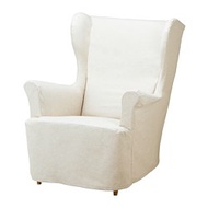 STRANDMON 扶手椅布套, 米色