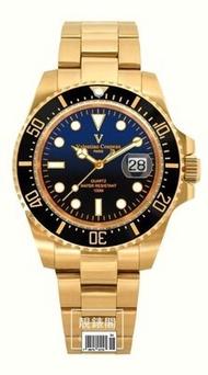 [靚錶閣]Valentino范倫鐵諾 水鬼陶瓷框防水運動錶(全金款)·實心鋼帶·藍寶石鏡片