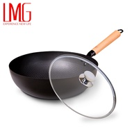 【LMG】(免運)長野不沾熟鐵鍋 30cm+鍋蓋組合 超取限一組