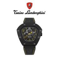 Tonino Lamborghini藍寶堅尼 盾牌鈦黑鏤空自動機械手錶(TLF-T06-3)