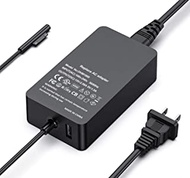 Surface Pro Charger, 44W 15V 2.58A Power Supply for Surface Pro 3/4/5/6/7 Surface Laptop 1/2/Surface Go & Surface Book
