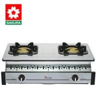 【促銷】送安裝 SAKURA櫻花 純銅爐頭全不鏽鋼嵌入爐 G6320K/G-6320K/G-6320KS