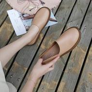 รองเท้าคัชชู รองเท้าโลฟเฟอร์ ผู้หญิง รองเท้าสุขภาพ ใส่สบาย หนังนิ่ม ** พร้อมส่งในไทย