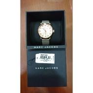 MARC BY MARC JACOBS 玫瑰金水鑽皮錶帶手錶(大象灰)