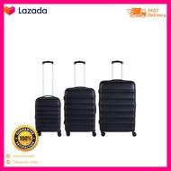 POLO TRAVEL CLUBเซตกระเป๋าเดินทาง รุ่น OC502 ขนาด 20 24 28 นิ้ว สีดำ สินค้ามีการรับประกัน ของแท้