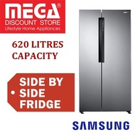 SAMSUNG RS62K60A7SL 602L SIDE BY SIDE REFRIGERATOR / FRIDGE / LOCAL WARRANTY