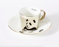 Luycho 鏡面倒影杯組 咖啡杯 _ 熊貓