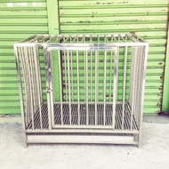 二手不鏽鋼狗籠,中型犬適用