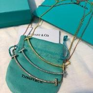 款Tiffany & Co.正品代購    白金色笑臉鑲鑽項鍊鎖骨鏈❗