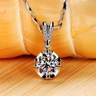 莫桑鑽項鍊(m2011)鑽石18K金結婚訂婚送禮情人節母親節(白金色/黃k金色/玫瑰金色)【莫桑皇朝】