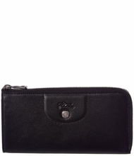 Longchamp Womens  Le Pliage Cuir Ziparound Leather Wallet