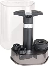 Swissmar Epivac Vacuum Pump Wine & Champagne Saver Set, Black. Comes with 2 Wine Stoppers and 1 Champagne Stopper