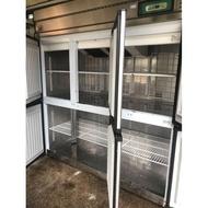 6門冰箱 六門冰箱 風冷冰箱, 上冷凍下冷藏營業用冰箱