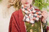 【梅花紅蒔】毛料短圍巾/圍脖