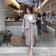 W正韓服飾 wkorea格紋裙