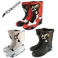 Alpinestars 摩托車 A星 公路騎行 護具 賽車靴子 機車 真皮賽車 長鞋 騎士 護具 防摔鞋 車靴