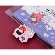 ✿Vocabulary Theme notebook binder w/ colorful cartoon refill 20 holes / 26 free ruler